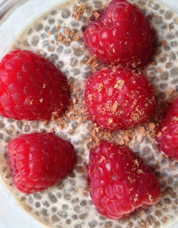 Chocolate Raspberry Chia Seed Pudding