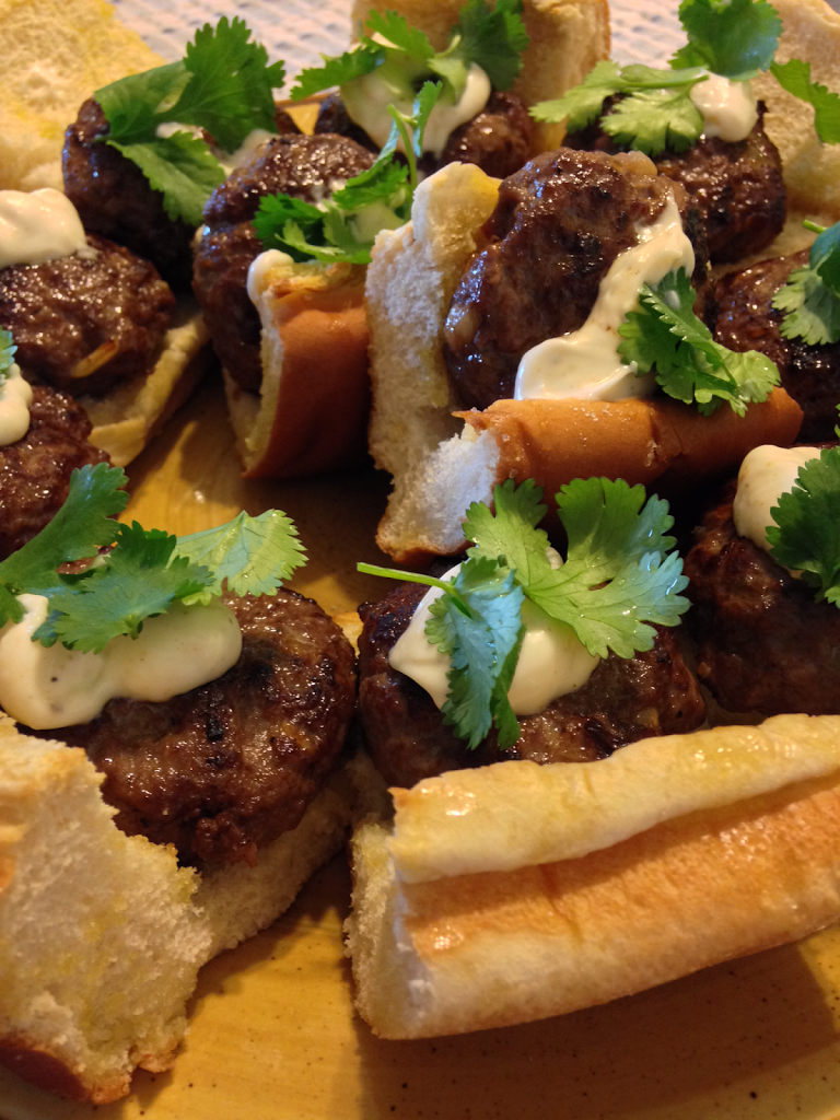 Asian Sliders With Homemade Cilantro Aioli Recipe!