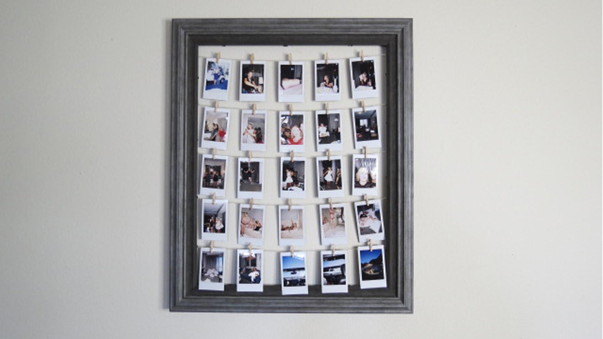 DIY- POLAROID PHOTO FRAME - oh hey, pretty