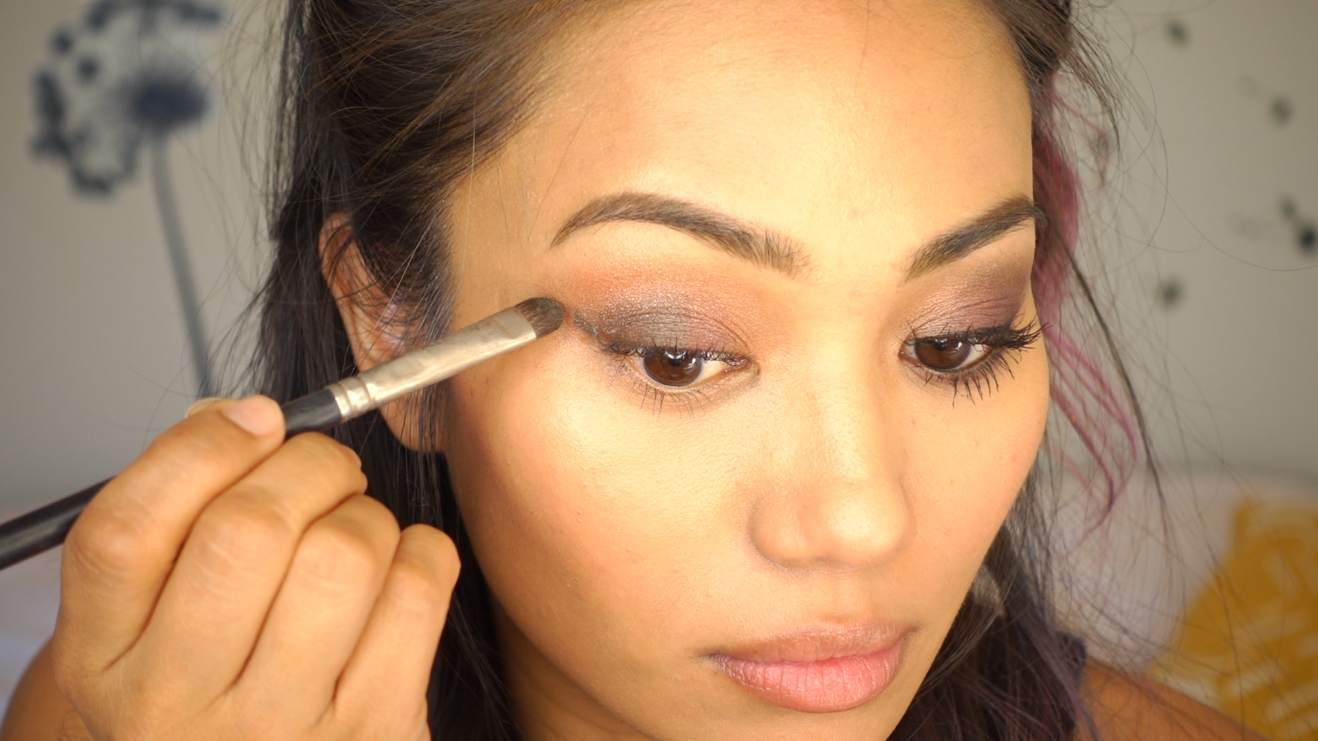 Continue to blend that color into your crease, stopping at the halfway point on your lid. I like to focus my darker colors in this outer half of my eye so ...